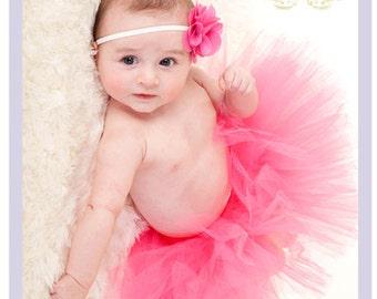 Hot Pink Tutu Dress Hot Pink Baby Dress Hot Pink Baby Tutu Hot Pink Baby Shower  9 12 18 months