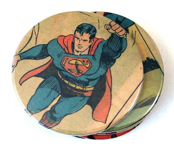 Superman Coasters // Recycled Vintage Comic