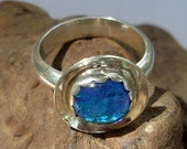 Aardvark's Sterling and Dichroic Ring Size 7 and 3/4