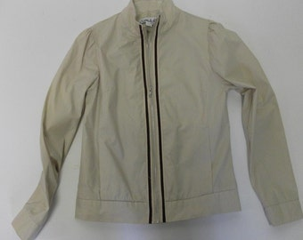 SALE Retro style TAN cotton jacket
