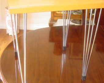 Mid Century Modern Hairpin End Table  REDUCED