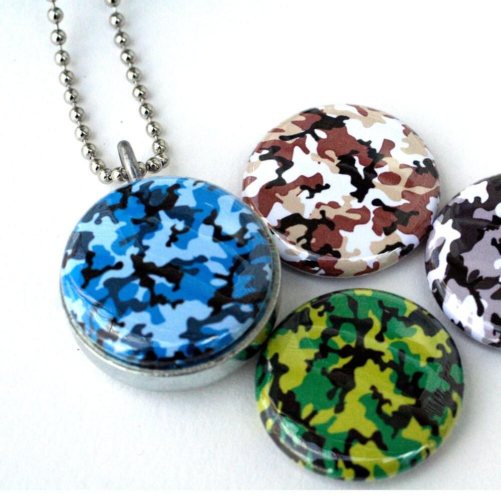 camo jewelry camo necklace camo locket camouflage