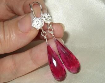 Raspberry Quartz Earrings