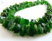 Last Strand----1/2 STRAND--Chrome Diopside Rough Cut Nuggets