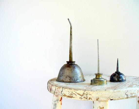 Vintage Oil Cans Eagle  Industrial Home Decor