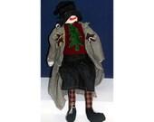 Lou Handmade Folk-art Snowman Doll