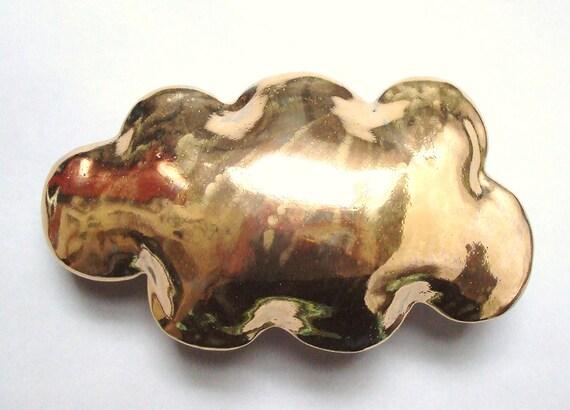 Gold cloud - porcelain wall  cloud pillow