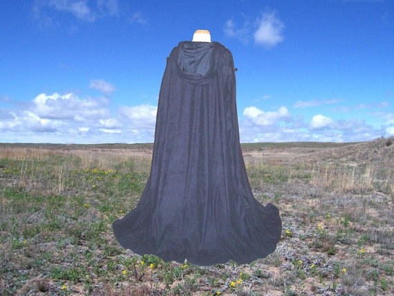 Navy Blue Indigo Hooded Cloak - Cape -Renaissance - Gothic- Medieval -Wedding Halloween Costume