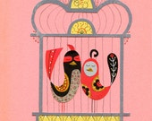 Hopelessly Devoted To You Bird Print 8.5 x 11