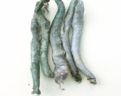 Silk carrier rods - hand dyed - light grey, pale violet, silver grey