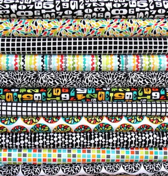 Modern half yard bundle--11 pieces---5-1/2 yards total--Robin Zingone for Robert Kaufman Fabrics
