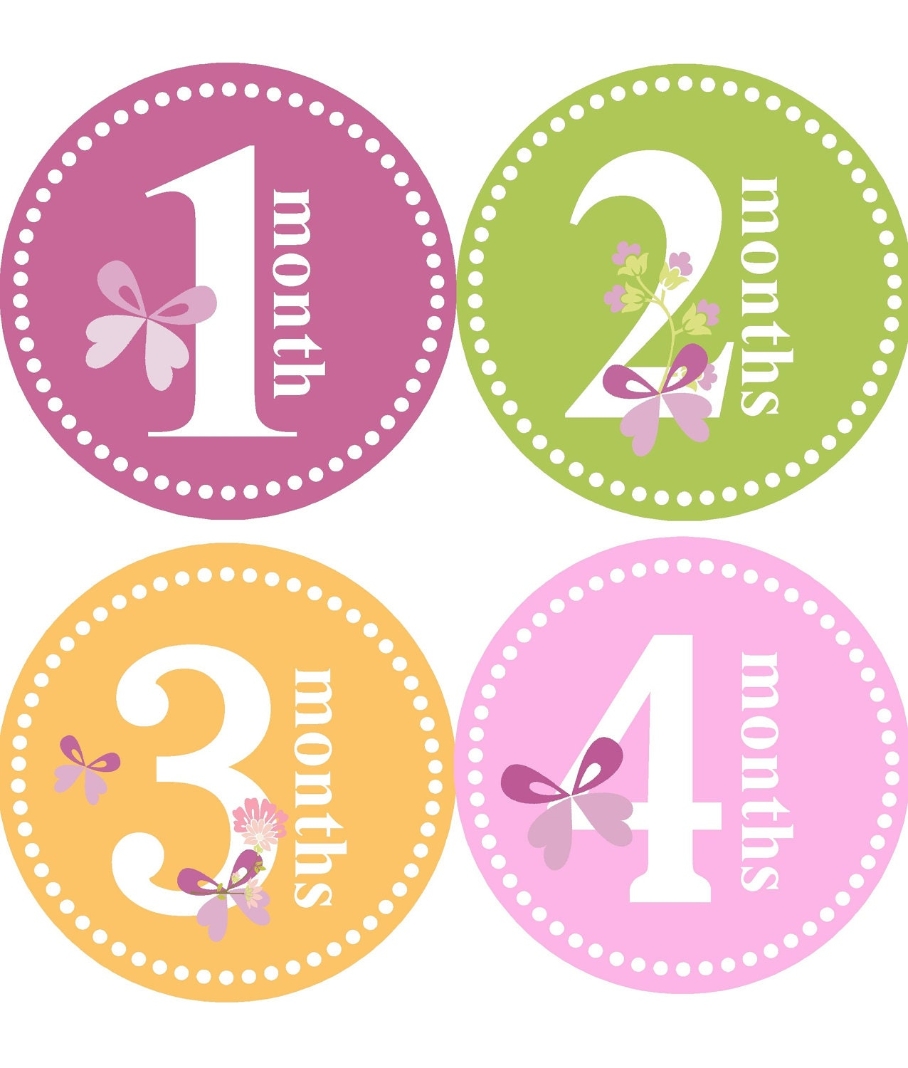 monthly baby stickers for girl girl monthly stickers one to