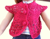 American Girl Doll Sweater Short Sleeve Light Sweater Crochet Doll Sweater