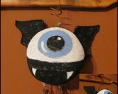 Primitive Halloween one eyed Bat Doll ornament country decor