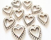 10 Heart Charms 15X18mm Item:A5