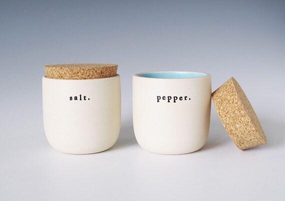 salt and pepper jars.