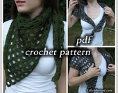 Crochet Pattern pdf - Tapered Scales Shawlette