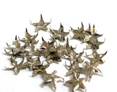 Base Metal Studs Nail Head Style Steampunk , 12mm  STAR Finding Leather Embellishment, Sold per 24 pc, 1001-29