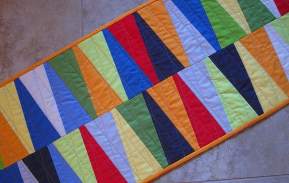 SLICED Bold and Modern Table Runner from Quilts by Elena Wall Hanging