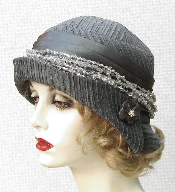 womens hat gatsby cloche hat 1920 s style by