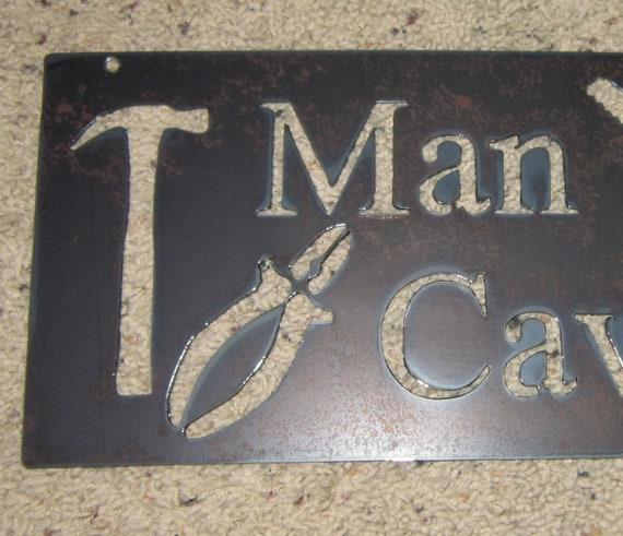 Wall Decor Man Cave Signs : Man cave metal art shop sign garage wall decor