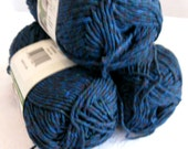 Recycled tshirt yarn, Red Heart Eco Cotton Yarn, Midnight Marl blue,  3 balls