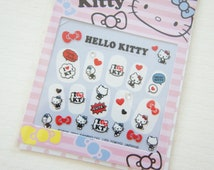 SALE Stock Hello Kitty Nail Sticker Sheet / Comic Red