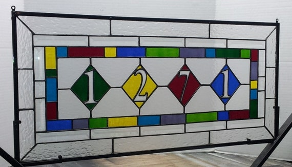 Stained Glass Set: Transom and Panels (AM-52)