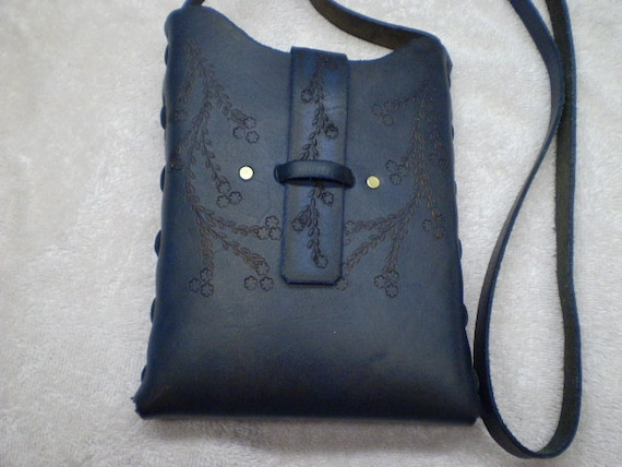 Sky Blue Pouch Bag - Gently Aged