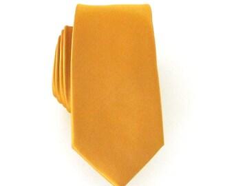 Skinny Tie - Mikado Yellow Skinny Necktie
