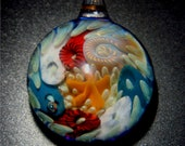 On The Sea Floor  Artisan Glass Bead  Focal Pendant