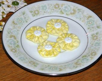 Handcrafted Fabric YoYo Flowers