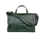 Apprentice Messenger in Winter Green Leather - Made to Order - jennyndesign