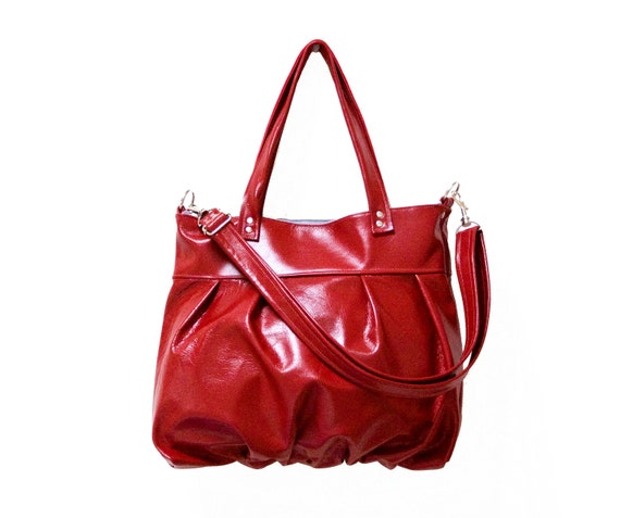 SALE - Mini Ruche Bag in Ruby Red Leather - Ready to Ship