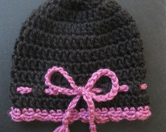 Newborn Hat Crochet Baby Infant Girl Hat Preemie Cap Crochet Reborn Hat Knit Doll Hat with Tie Warm Baby Hat Photo Prop Soft Baby Hat