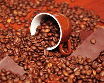 Coffee Chocolate Orange Flavored Coffee 8 ounces Whole Bean or Ground free