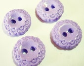 Lavender Lace Vintage Style Buttons (set of 4- 3/4  inch handmade buttons)
