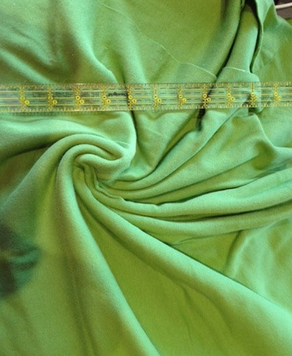 Lime green solid cotton rib knit fabric