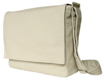 Messenger Bag 13 inch - The Minima in Stone