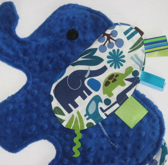 Zoo Day Blue Elephant Blanket Sensory Lovey