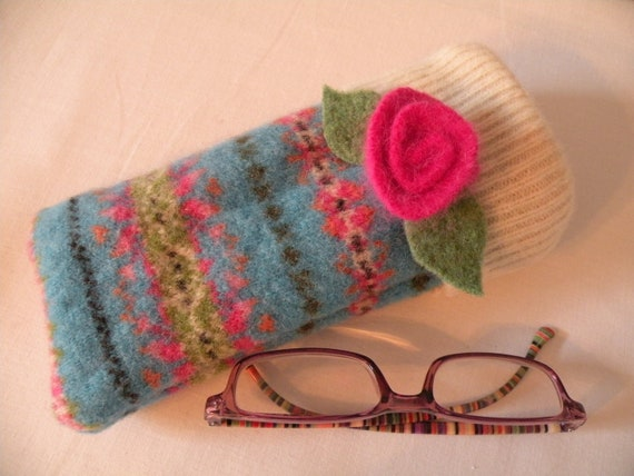 Recycled Wool Eyeglass Case