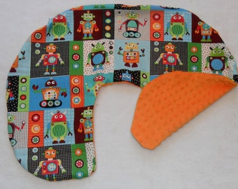 Robots and Minky Dot Nursing Pillow Cover Fit Boppy CHOICE OF MINKY