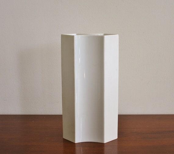 Vintage modern porcelain vase, Rosenthal Germany