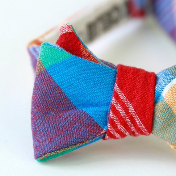 rainbow bow tie for the little guy
