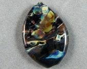 Cosmos Focal Lampwork Glass Bead