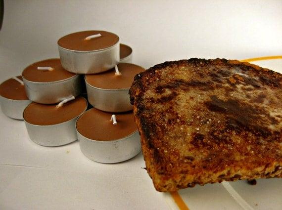 Cinnamon Toast - Soy Wax Tea Lights, 9 pack, brown, cinnamon