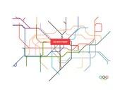 London Subway map ( OLYMPIC VERSION ) - 8.5 x 11 Print