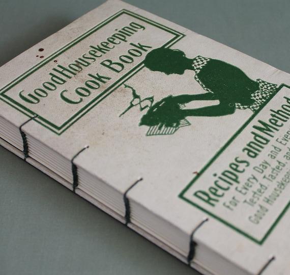 Good Housekeeping Cook Book Rebound Journal Recycled Book by PrairiePeasant