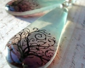 Resin Earrings,misty morning translucent resin earrings