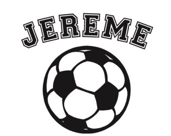 Soccer ball Decal, Soccer Monogram Name Vinyl Decals, Car window decal, Removable Wall Decal, Kids Name Monogram Decals, Sports decals